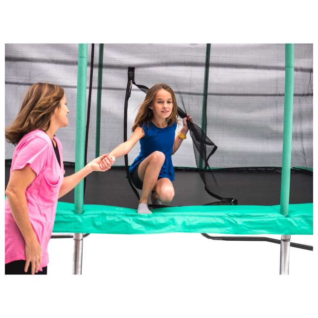 JKRC1014C2-BOX1+JKRC1014C2-BOX2+JKRC1014C2-BOX3 JumpKing Trampoline w/ Safety Net and XDP Recreation Metal Anchor Kit 2