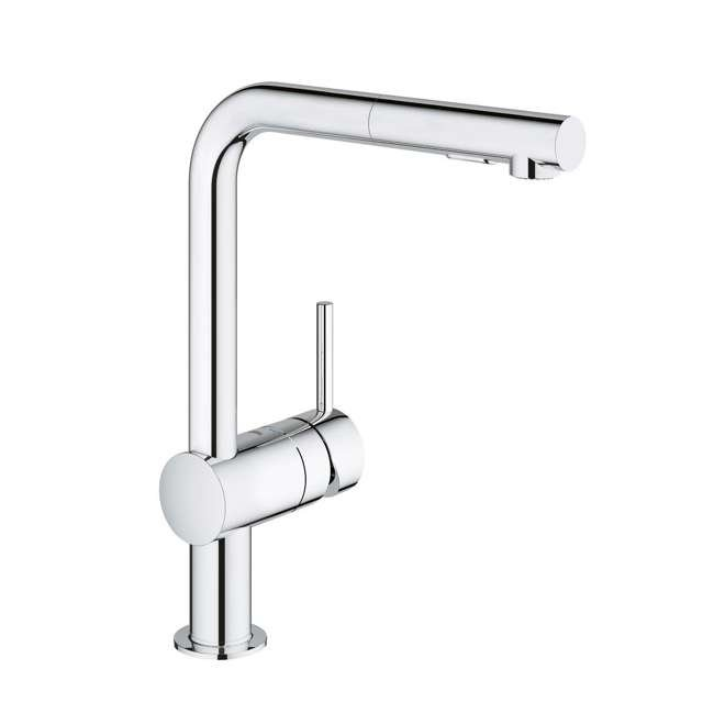 30300000-OB Grohe Minta Single Handle Pull Down Home Kitchen Faucet, Chrome (OPEN BOX)