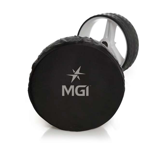 US-ZIPX5B MGI Zip X5 Electric Golf Push Cart Swivel Wheel Caddie with Accessories, Black 9