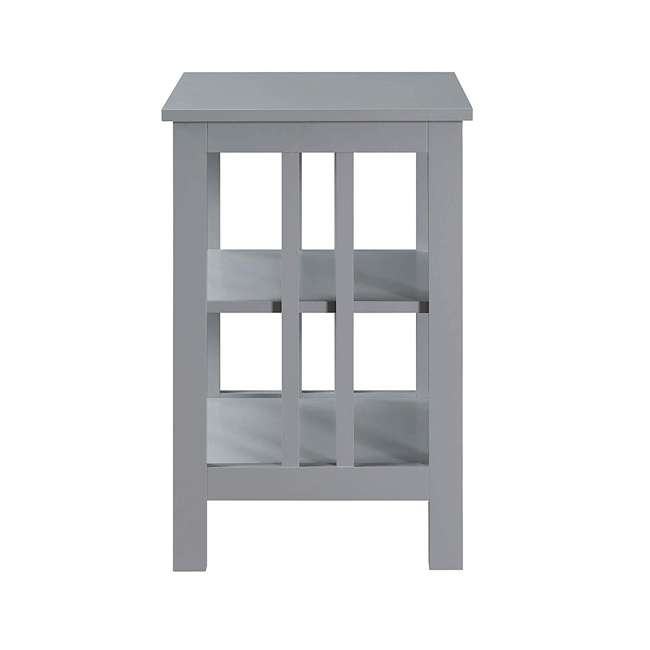 S20-250 OMA - Convenience Concepts 203385GY End Table, Gray 1