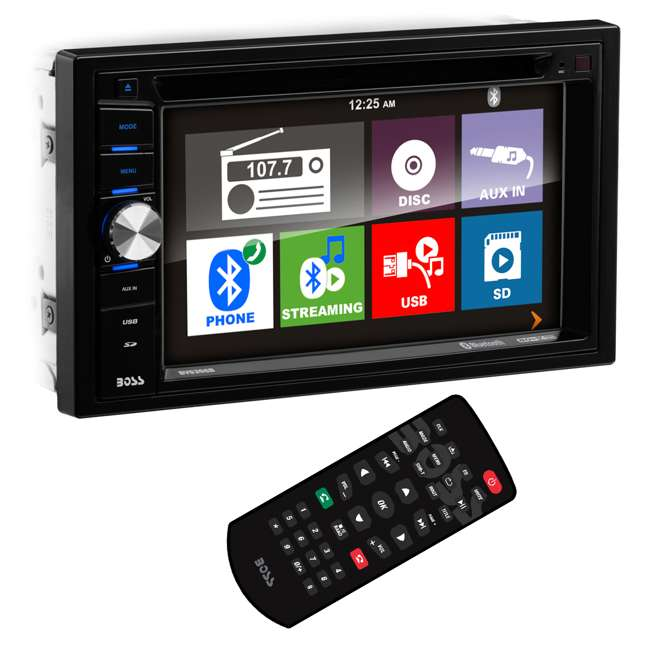 "BV9366B Boss BV9366B 6.2"" 2-DIN In-Dash DVD/MP3 Touchscreen Car Receiver with Bluetooth"