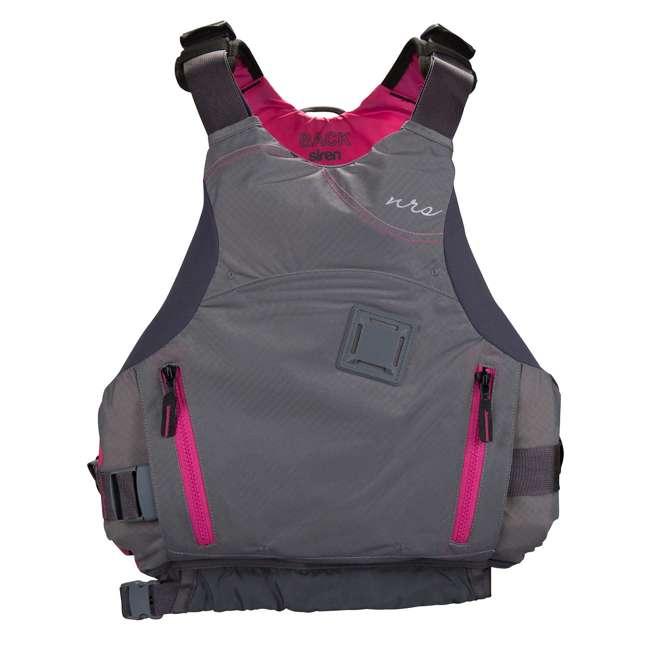 NRS_40036_02_102 NRS Adult Women's Siren PFD Life Jacket Vest, Charcoal, L/XL