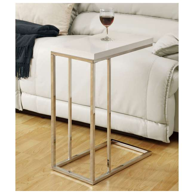 MS-VM3008-U-A Monarch Specialties Contemporary Accent End Table, White (Open Box) (2 Pack) 2