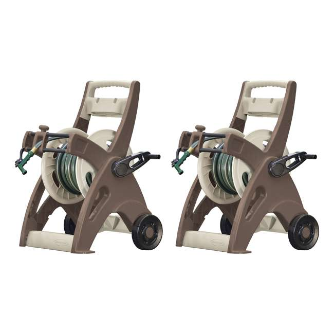 JTT175B Suncast 175-Foot Hosemobile Garden Hose Reel Cart (2 Pack)
