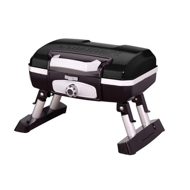 CGG-180TB Petite Gourmet Gas-Fueled Outdoor Grill, Black