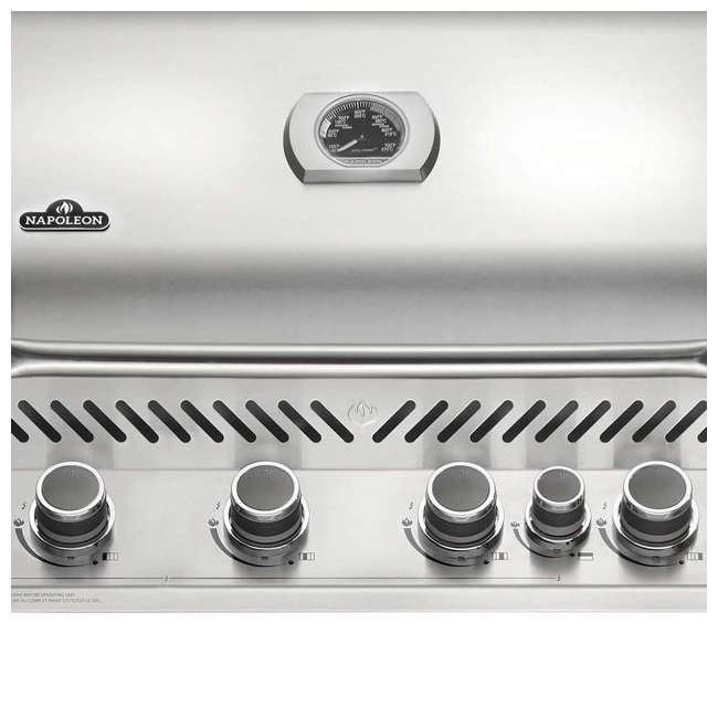 BIP500RBNSS-2 Napoleon 31'' Prestige 500 Built In Stainless Steel 4 Burner Gas Grill Head (2 Pack) 3