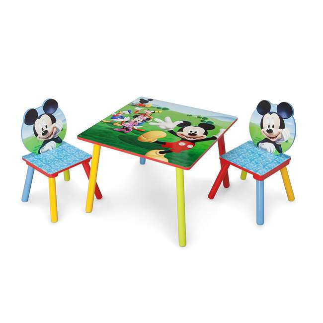 TT89450MM-1051 Delta Children Disney Mickey Mouse Wooden 3 Piece Table and Chair Set