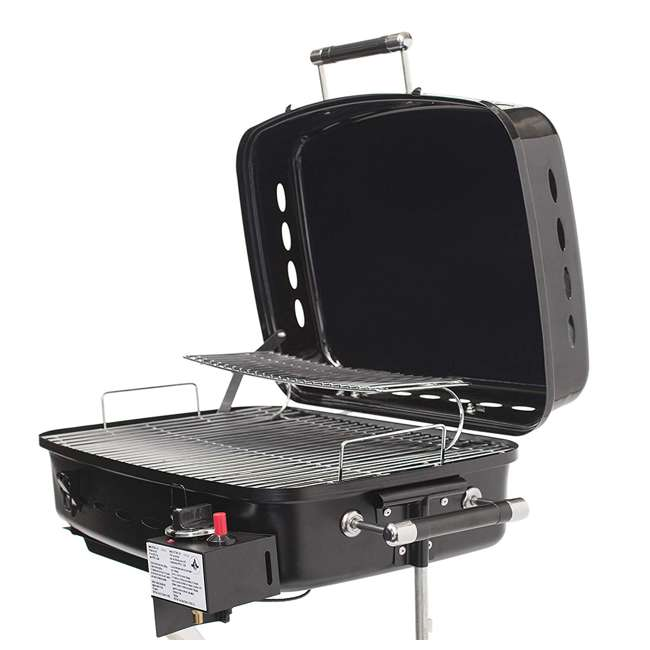 YSNHT400 Flame King YSNHT400 RV Trailer Mount 214 Square Inch Propane Gas Grill, Black