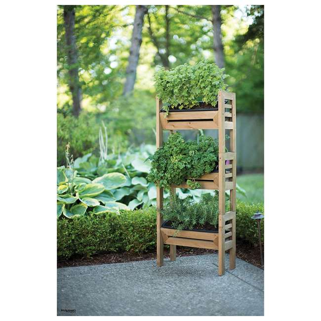 ALG-120 Algreen Stack'n Garden 3-Tier Modular Planters 1