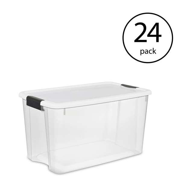 24 x 19909804 Sterilite 116 Quart Storage Box Container, Clear (24 Pack)
