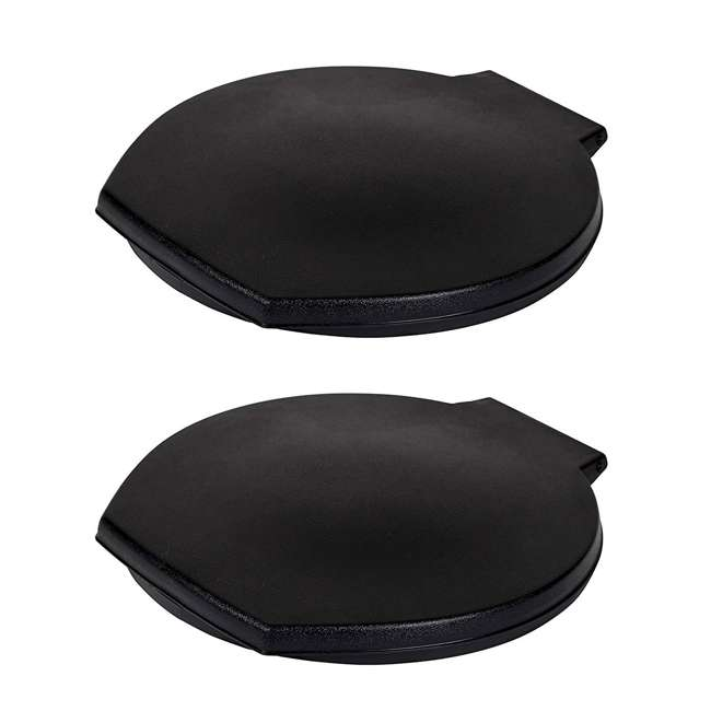 9881-03 Reliance Luggable Loo Portable Camping Toilet Seat Cover, Black (2 Pack)