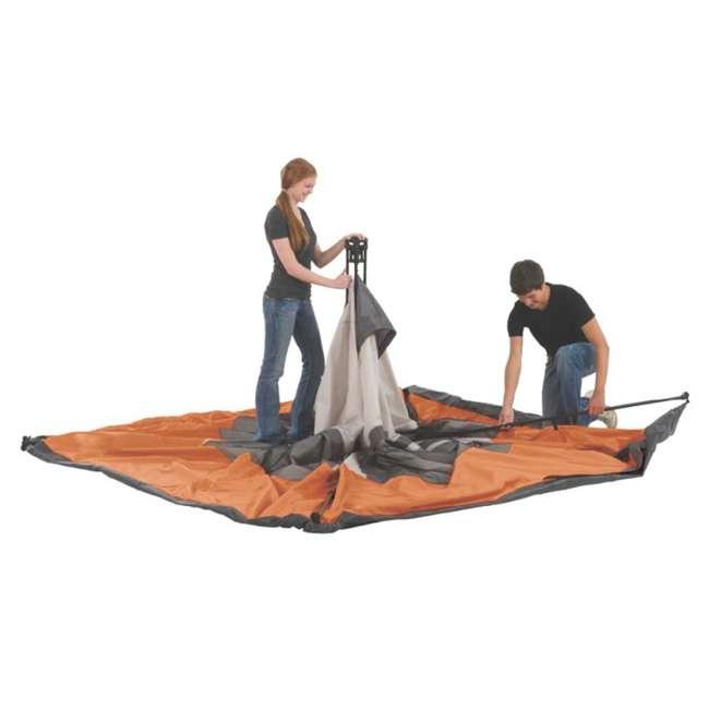 2000017933 + RIORC109TB-61 Coleman Outdoor 6-Person Camping Tent & 77 Quart Rolling Cooler 6