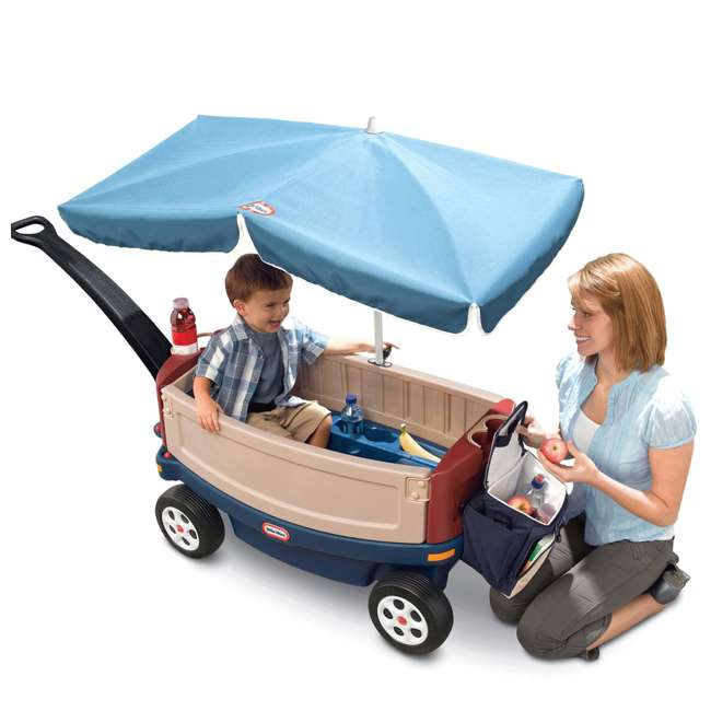618031M-U-B Little Tikes Kids Ride and Relax Toy Pull Wagon with Umbrella and Cooler (Used) 3