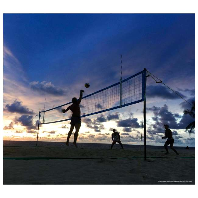 TP-179-WH-OB Park & Sun Sports Spectrum 179 Outdoor Volleyball Net Set (Open Box) 4