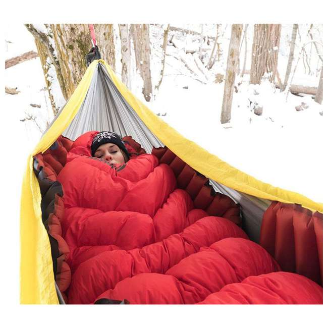 06IHRD01D Klymit Hammock V Camping Outdoor Hiking Insulated Lightweight Sleeping Pad, Red 4