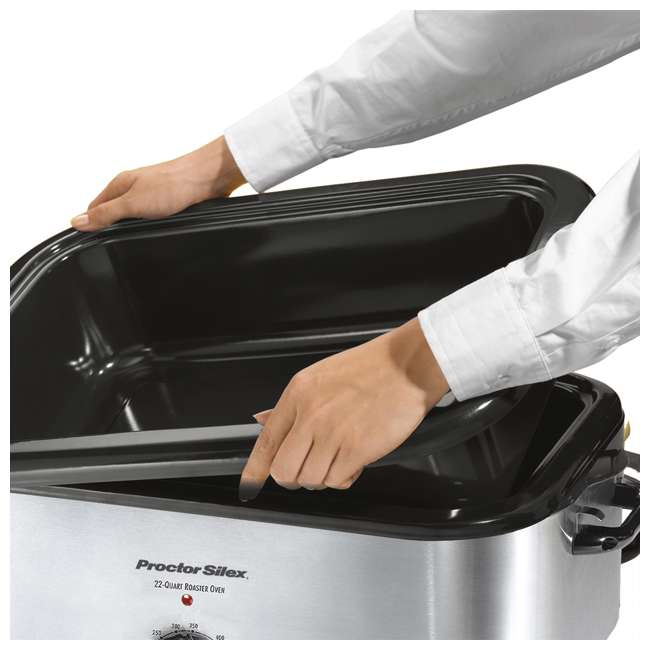 32230A + FPSTEK2802 Proctor Silex 22-Quart Stainless Steel Roaster Oven and Electric Knife Kit 3