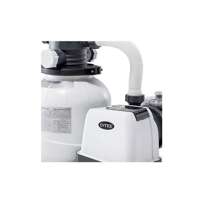 I26645 Intex 2100 GPH Above Ground Pool Sand Filter Pump w/ Automatic Timer (Brown Box) 3