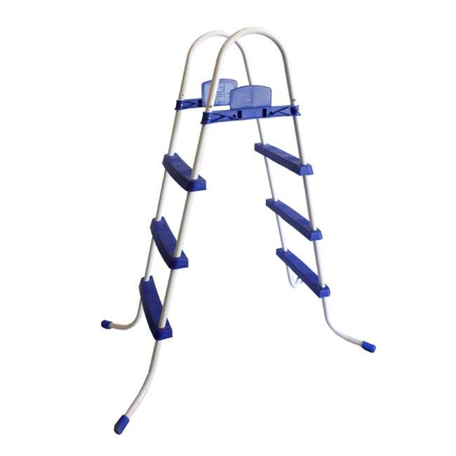 "58337E-BW-U-A Bestway 52"" Steel Above Ground Swimming Pool Ladder No-Slip Steps (Open Box)"