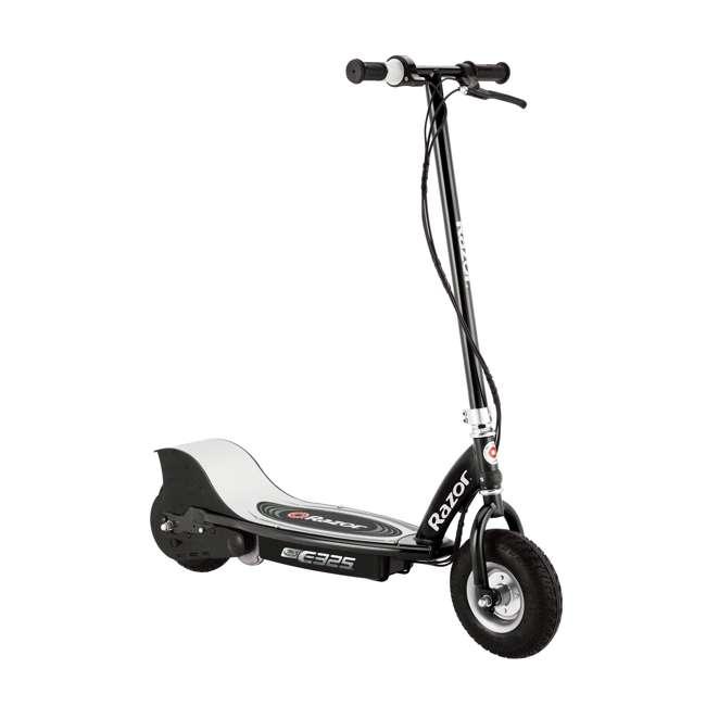 13116397 + 97778 Razor E325 Black Electric Scooter And Razor V17 Youth Helmet 1
