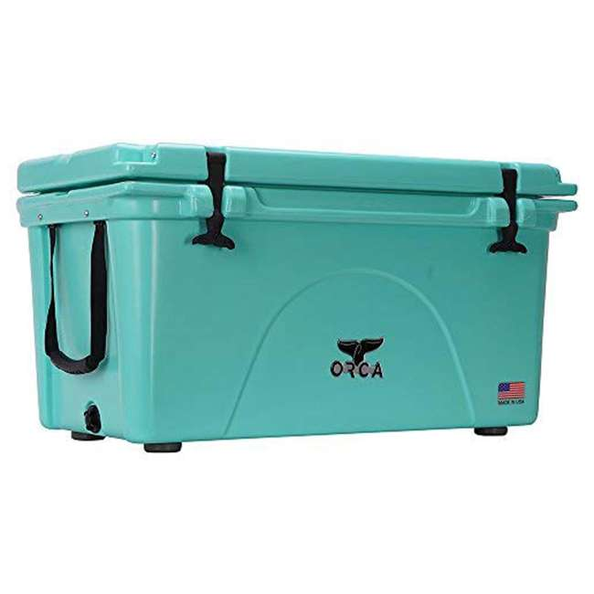 ORCSF075 Orca ORCSF075 75 Quart 15 Gallon Roto Molded Insulated Outdoor Cooler, Seafoam 1