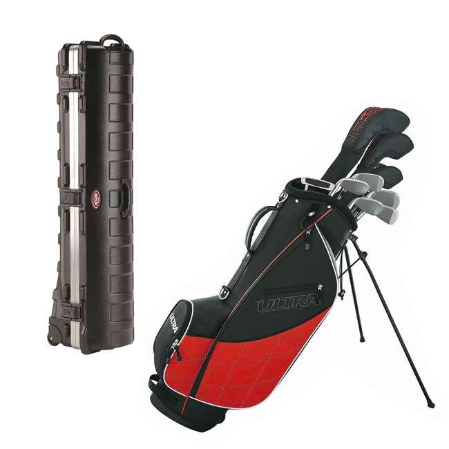 WGGC43200 + 2SKB-1649W Wilson Men's Golf Club Set and SKB Cases Hard Travel Case
