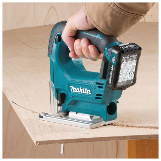 makita 12v max cxt cordless jig saw kit with batteries and charger vj04r1. Black Bedroom Furniture Sets. Home Design Ideas
