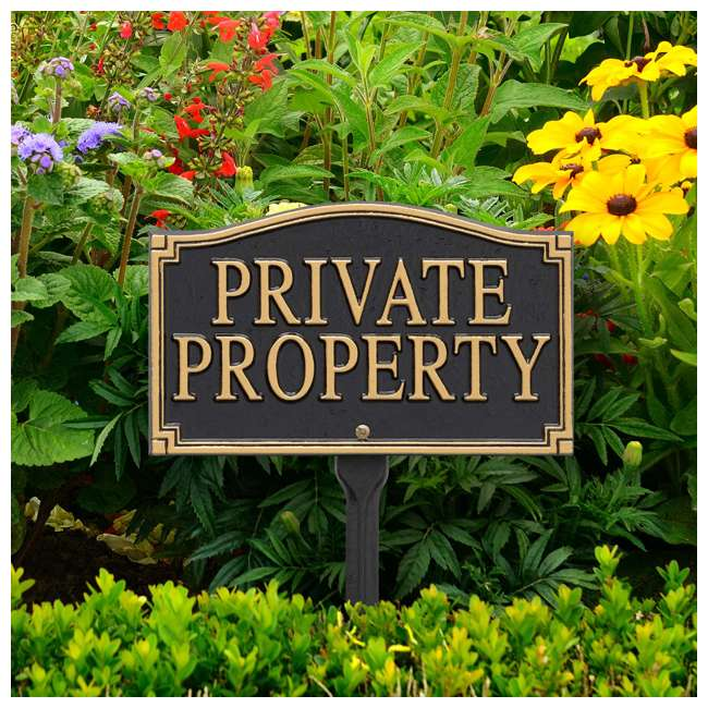 01430 Whitehall 01430 Aluminum Metal Outdoor Residence Private Property Lawn Sign 2