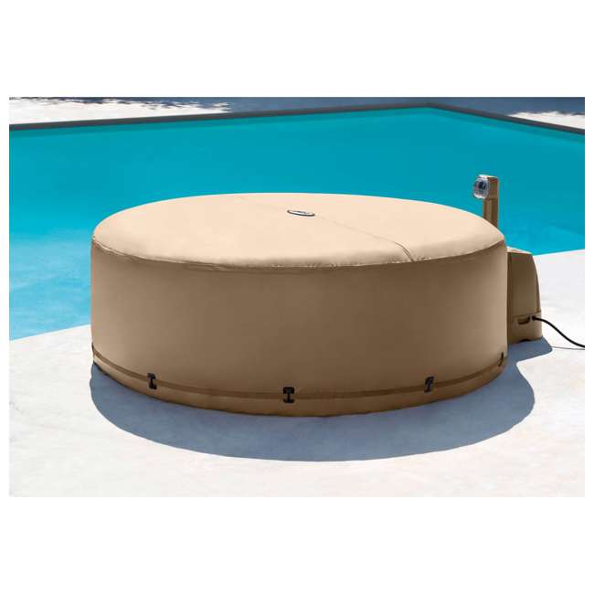 28403VM + 28523E + 28004E Intex PureSpa 4 Person Inflatable Hot Tub with Replacement Cover & Accessory Kit 10