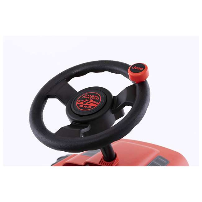 24.30.13.00 BERG Toys Jeep Buzzy Rubicon Pedal Powered Kids Safe Go Kart, Red 3