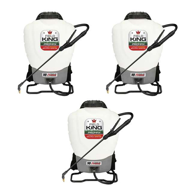 3 x FDK-190515 Field King 190515 Lithium Ion Powered Backpack Sprayer (3 Pack)