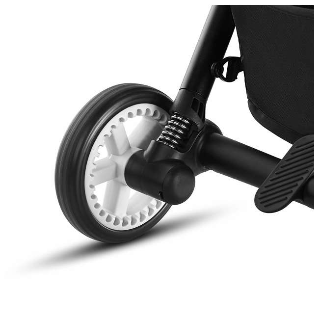 518001259  Cybex Eezy S Twist Travel System Baby and Toddler Stroller w/ Sun Canopy, Black 3