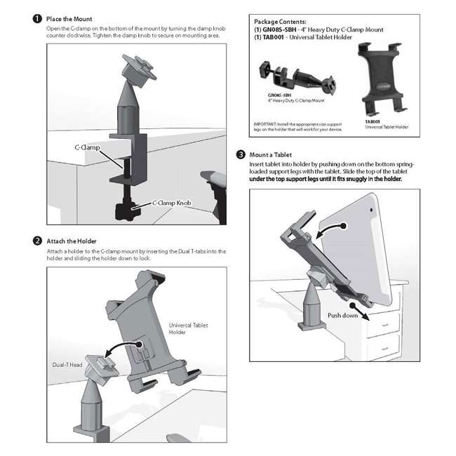 TAB085 Desk Tablet Mount 2