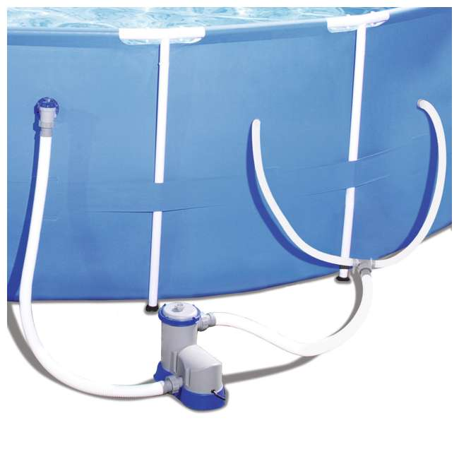 "56417E-BW-U-A Bestway 12' x 30"" Frame Above Ground Pool with Filter Pump 
