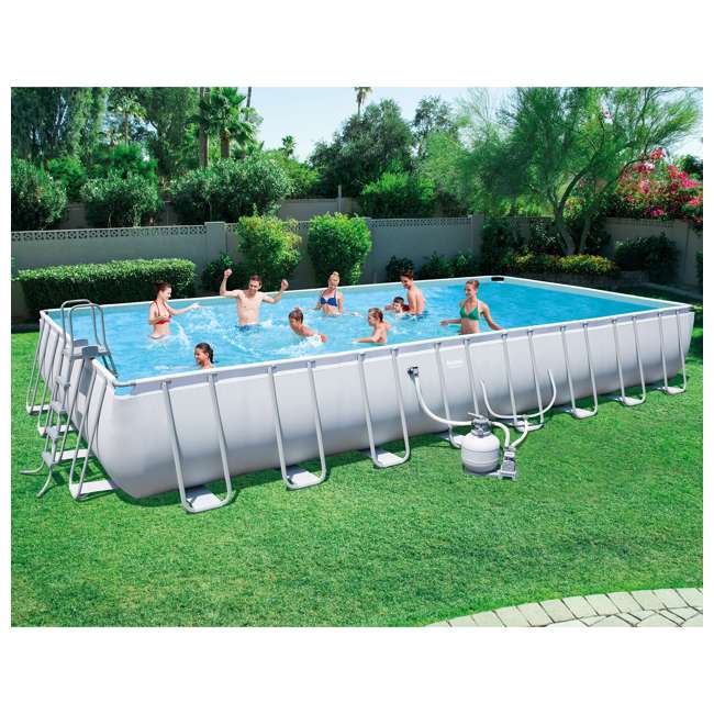 Bestway 31 3 X 16 52 Rectangular Frame Above Ground Swimming Pool Set