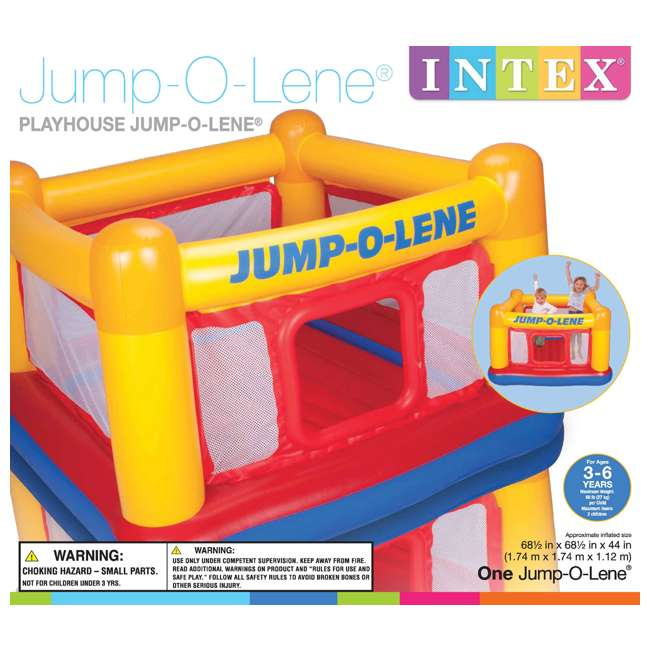 48260EP INTEX Inflatable Jump-O-Lene Ball Pit Playhouse Bouncer House (Open Box)(2 Pack) 2