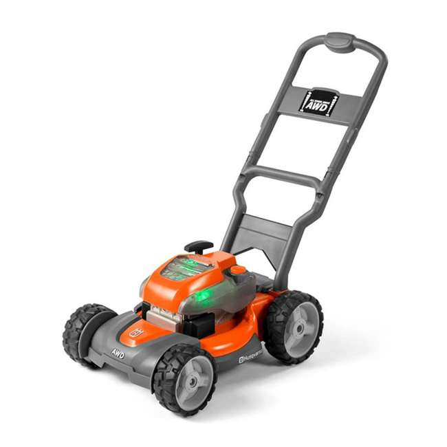 HV-TOY-589289601 + HV-TOY-585729103 Husqvarna Battery-Powered Toy Lawn Mower and Battery Operated Toy Hedge Trimmer 1