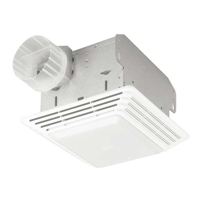 BR-HD80L-U-A Broan 80 CFM 2.5 Sones Ventilation Fan/Light, Bulb Not Included (Open Box) 1