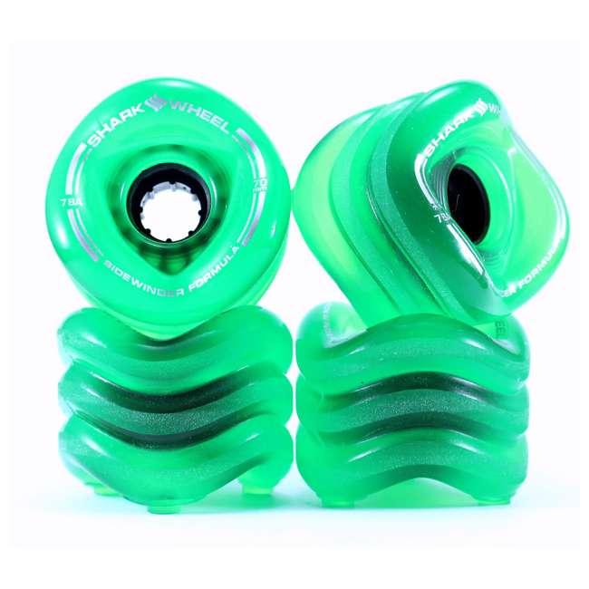 1000S70MMS78ATG Shark Wheel Sidewinder 70mm 78A Skateboard Wheels, Green
