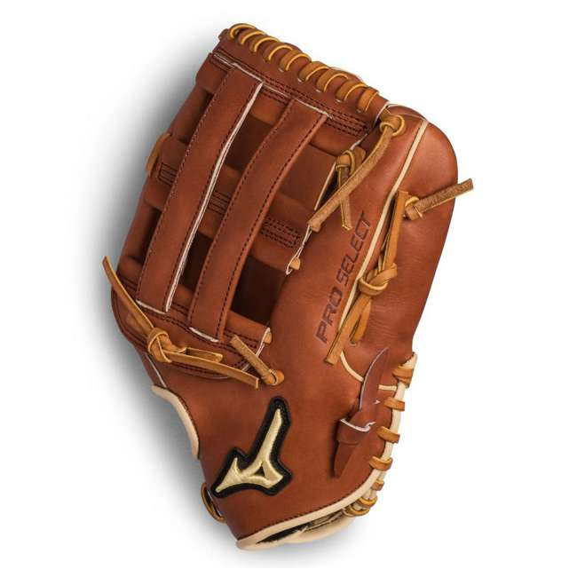 "312496.RG80.16.1275 Mizuno Pro Select Outfield 12.75"" Baseball Glove, Brown 2"