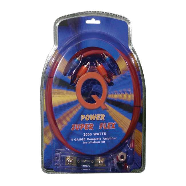 2x4GAMPKIT-SFLEX +44DCWC122 +2x R1100M +2x BCAP2.2 Q Power Wiring Kit (2 Pack) & Box & Boss Mono (2 Pack) & Capacitor (2 Pack) 1