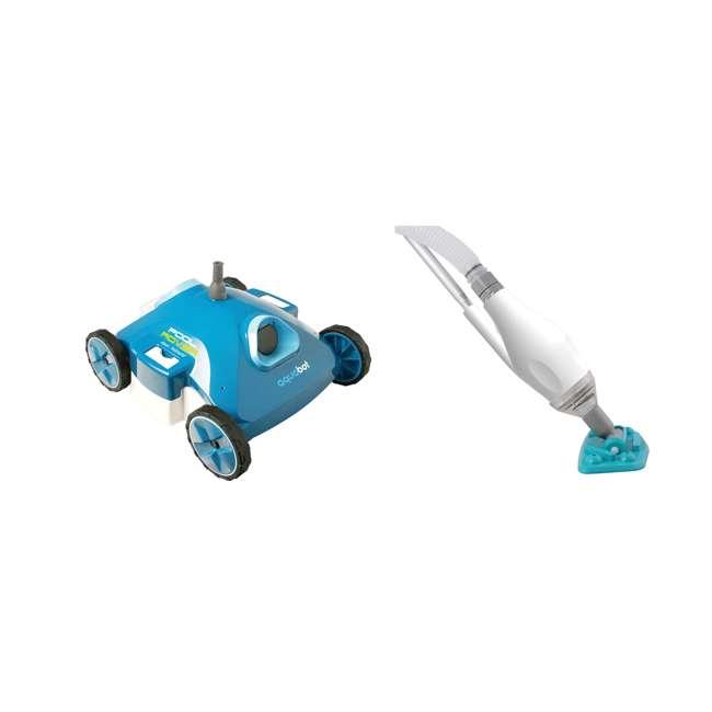 AJET121 + K563CBX/18 Aquabot Robotic Auto Swimming Pool Cleaner + Kokido Skooba Pool Vacuum