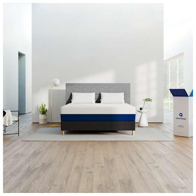 AS3-F Amerisleep AS3 Medium Softness Bio Core Plush Foam Full Size Mattress, White 4