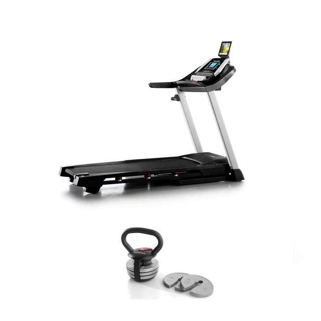 PFTL10916 + WAWkB2017 ProForm 905 CST iFit Folding Treadmill + Weider PowerBell 20 Pound Kettlebell