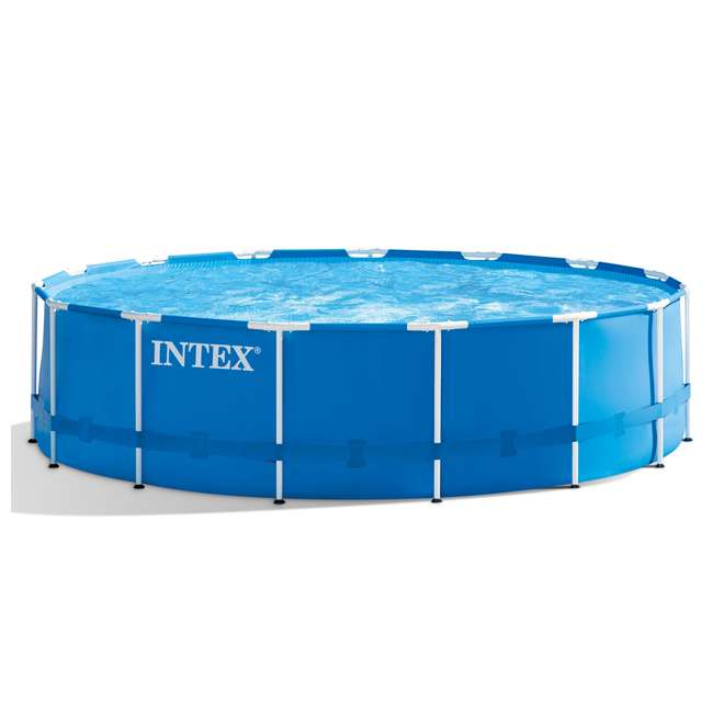 """28241EH + 6 x 29000E + NC-05131 Intex 15' x 48"""" Pool Set with 6 Filter Cartridges + Natural Chemistry PHOSfree 1"""