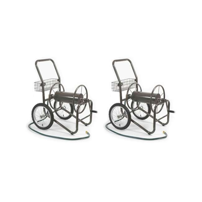 LBG-880-2 Liberty Garden 2-Wheel Steel Frame Water Hose Cart, Bronze (2 Pack)