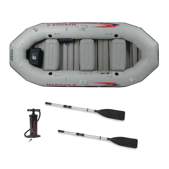 68376EP Intex Mariner 4-Person Inflatable Boat Set