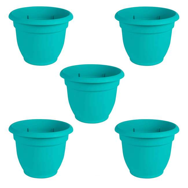5 x AP0627 Bloem 6 Inch Ariana Self Watering Planter for Indoor & Outdoor, Calypso (5 Pack)