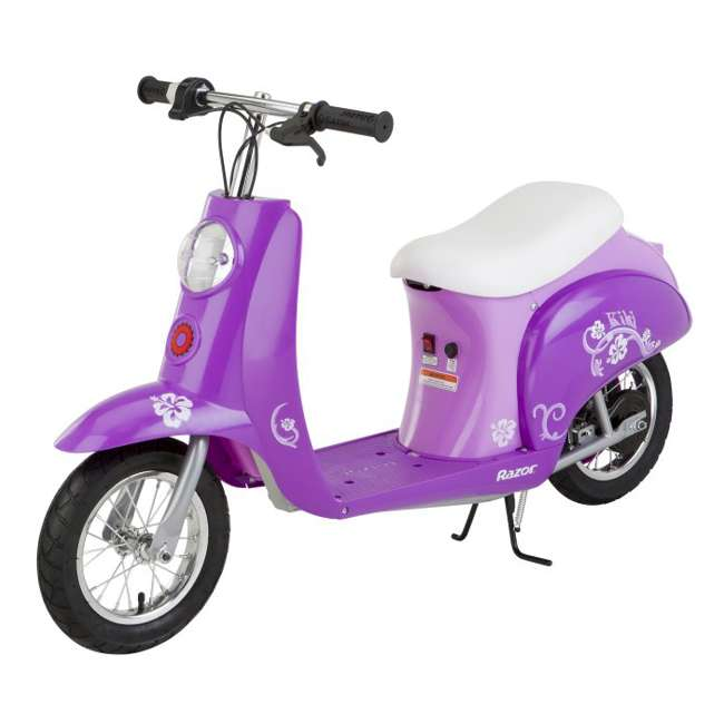 razor pocket mod kiki electric scooter purple 15130634. Black Bedroom Furniture Sets. Home Design Ideas