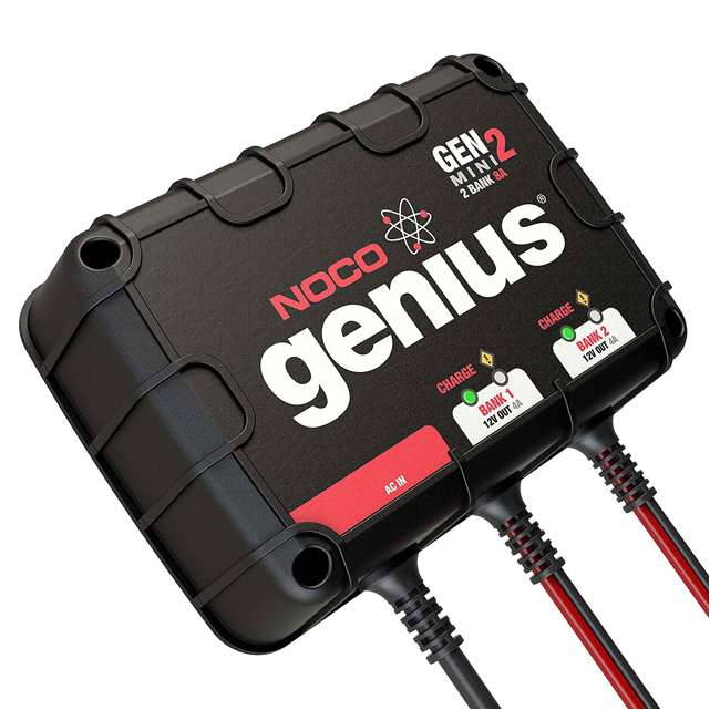 GENM2 Noco Genius GENM2 2 Bank 8 Amp On Board Battery Charger