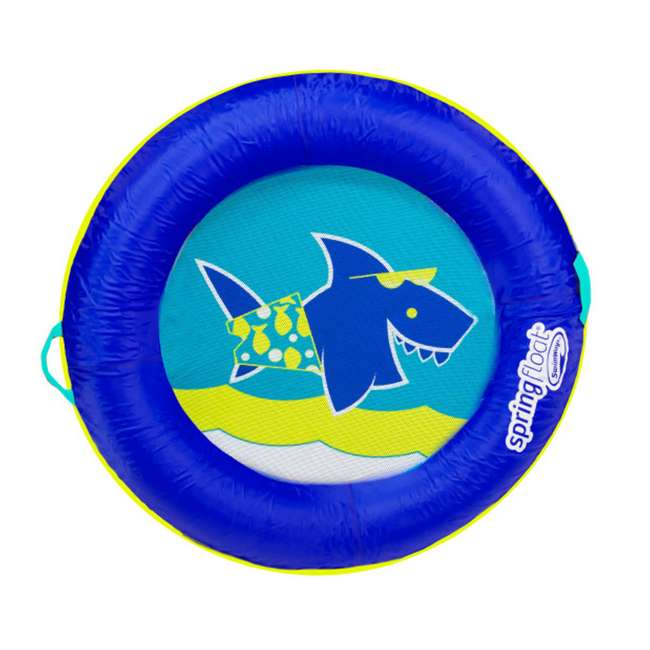 13221-SW Swimways Fabric Covered Spring Float Kid's Boat, Blue